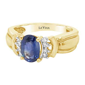 LIMITED QUANTITIES! Le Vian Grand Sample Sale™ Ring featuring Cornflower Ceylon Sapphire™ Nude Diamonds™ set in 14K Honey Gold™