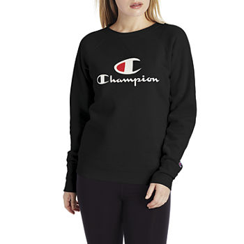 Champion Womens Crew Neck Long Sleeve Sweatshirt