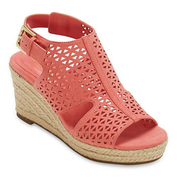 Liz Claiborne Womens Hanahan Wedge Sandals