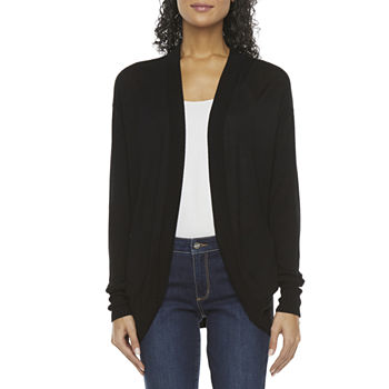 Worthington-Tall Womens Long Sleeve Open Front Cardigan