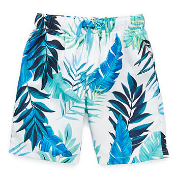 Peyton & Parker Toddler Boys Leaf Swim Trunks