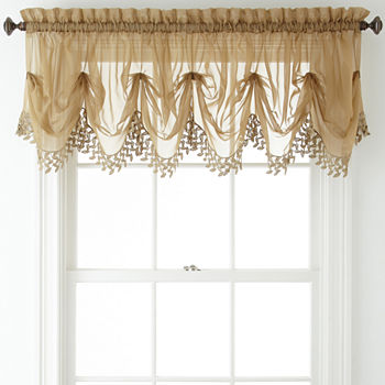 Home Expressions Lisette Sheer Macramé Tuck Valance