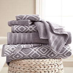 Pacific Coast Textiles Oxford Yarn Dyed 6-pc.Bath Towel Set