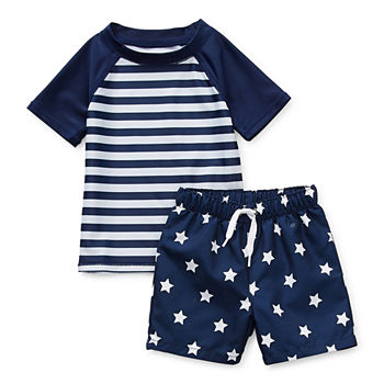 Peyton & Parker Baby Boys Rash Guard Set