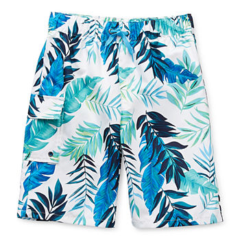 Peyton & Parker Little & Big Boys Leaf Swim Trunks