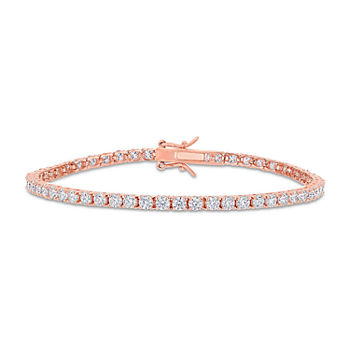 5 CT. T.W. Lab Created White Moissanite 18K Rose Gold Over Silver Tennis Bracelet