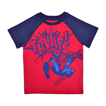 Okie Dokie Toddler Boys Crew Neck Spiderman Short Sleeve Graphic T-Shirt