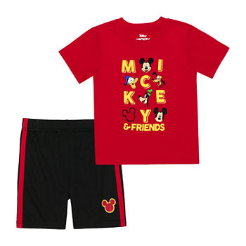 Disney Toddler Boys 2-pc. Mickey Mouse Short Set