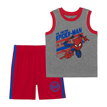 Toddler Boys 2-pc. Spiderman Short Set