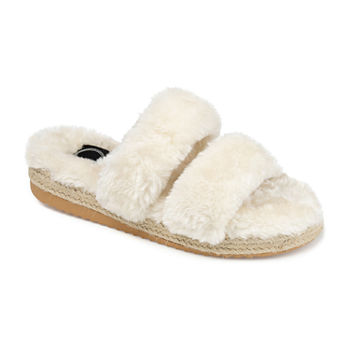 Journee Collection Relaxx Womens Slip-On Slippers