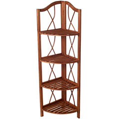 Lavish Home™ 4-Tier Folding Corner Display Shelf
