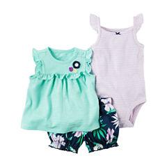 Carter's Ig Diaper Cover Sets Short Set Baby Girls