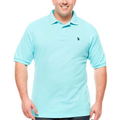 U.S. Polo Assn. Embroidered Short Sleeve Pique Polo Shirt Big and Tall