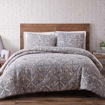 white duvet designer grey textured cover