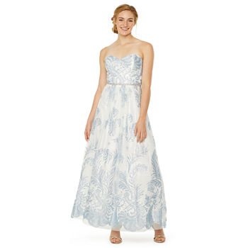 Jackie Jon Strapless Ball Gown-Juniors