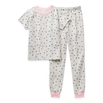 Peace Love And Dreams Little & Big Girls 2-pc. Pant Pajama Set