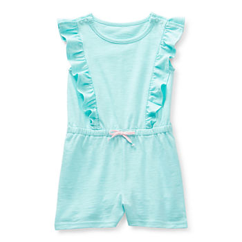 Okie Dokie Toddler Girls Short Sleeve Romper