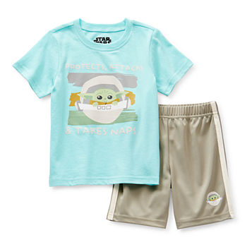 Yoda Toddler Boys 2-pc. Star Wars Short Set