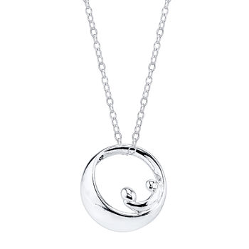 "Footnotes Sterling Silver ""Forever"" Mother Pendant Necklace"