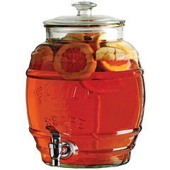 Circleware Family Recipe Glass Beverage Dispenser with Stand