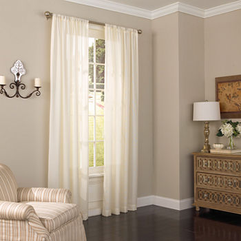 Eclipse Chelsea Sheer Rod-Pocket Single Curtain Panel