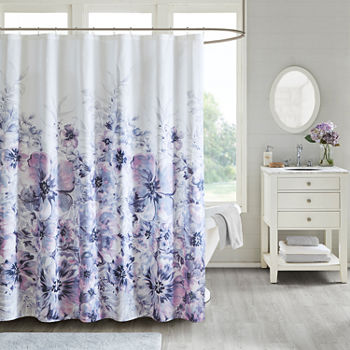 Purple Shower Curtains For Bed Bath Jcpenney