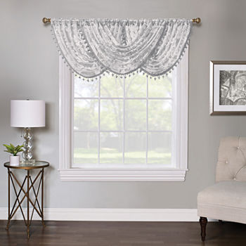 Regal Home Lombardi Floral Rod-Pocket Waterfall Valance