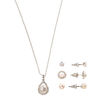 Sparkle Allure Light Up Box 4-pc. Cubic Zirconia Silver Plated Jewelry Set