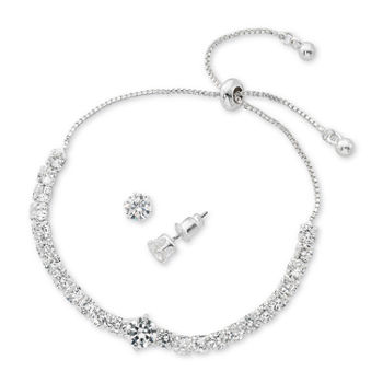 Sparkle Allure Light Up Box 2-pc. Cubic Zirconia Silver Plated Jewelry Set