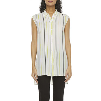 Worthington Womens Short Sleeve Tunic Top