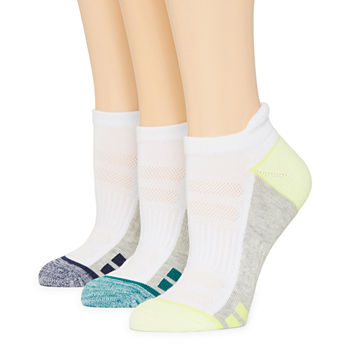 Xersion 3 Pair No Show Socks Womens
