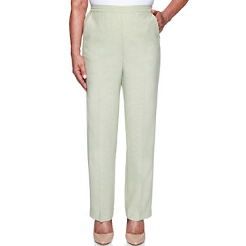 Alfred Dunner Springtime In Paris Womens Straight Pull-On Pants
