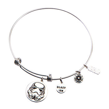 Star Wars® Stainless Steel Stormtrooper Charm Expandable Bracelet
