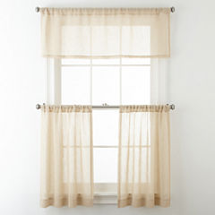 JCPenney Home™ Bayview Rod-Pocket Sheer Window Treatments