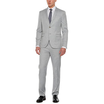 JF J.Ferrar® Light Gray Tic Suit Separate- Super Slim