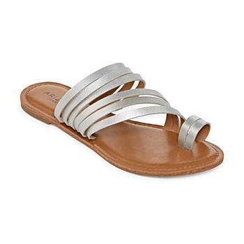 0bd515e40aeb Casual Silver Women s Sandals   Flip Flops for Shoes - JCPenney