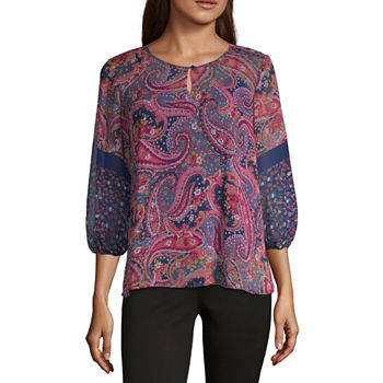 1d75522fd82b Paisley 3/4 Sleeve Tops for Women - JCPenney