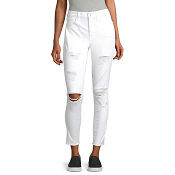 Arizona Womens High Rise Ankle Jeggings - Juniors