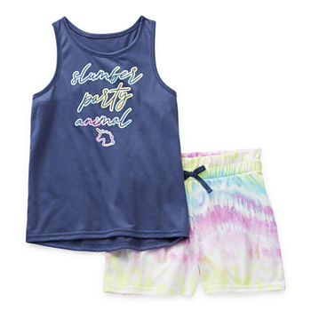 Arizona Little & Big Girls 2-pc. Shorts Pajama Set