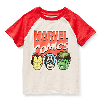 Okie Dokie Toddler Boys Crew Neck Marvel Short Sleeve Graphic T-Shirt
