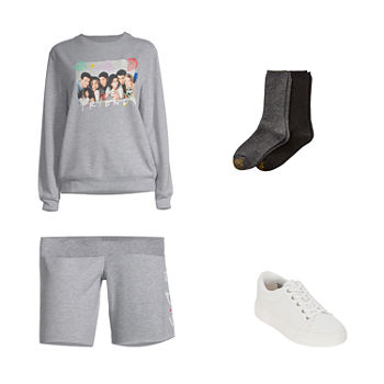 JUNIORS FRIENDS SET: Friends Sweatshirt, Shorts & Arizona Sneakers