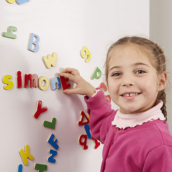 Melissa & Doug Magnetic Wooden Alphabet Set