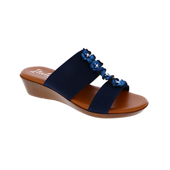 e6f0d22c1a64 St. John s Bay Womens Irma Wedge Sandals · (7). Add To Cart. Navy. BUY 1  GET 2 FOR FREE
