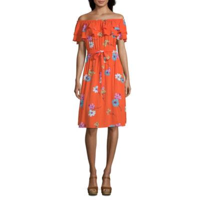 a.n.a Off The Shoulder Peasant Dress,Tall