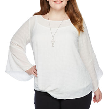 056363b54ef Plus Size Regular Fit Tops for Women - JCPenney