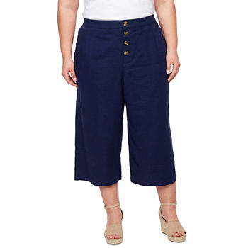 278b9b68d09 Plus Size Capris   Crops for Women - JCPenney