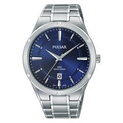 Pulsar Mens Silver Tone Bracelet Watch-Ps9521