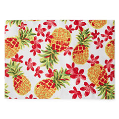 Outdoor Oasis Pineapple 4-pc. Placemat