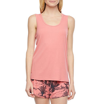 Ambrielle Womens Pajama Top U Neck