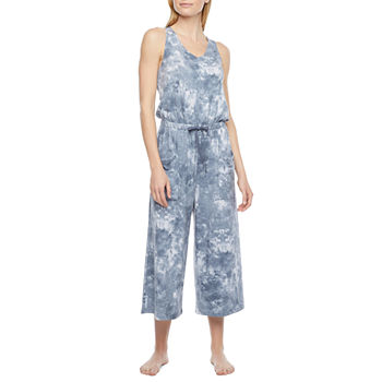 Ambrielle Jumpsuit Womens French Terry One Piece Pajama